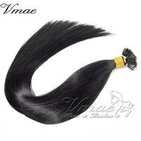 Extensión plana de doble dibujado dobles extraordinarias brasileñas Black Straight 100G Keratin 100% sin procesar Virgin Hair Hair