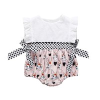 2019 Newborn baby girls clothes cute Rabbit Sleeveless Rompe...