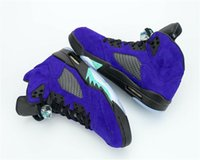 Autênticos 2020 Ar Authentic 5 Alternate Black Grape Ice Men tênis de basquete Limpar New Emerald Suede 136027-500 Sports Shoes Sneakers 7-13