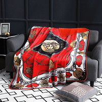 Royal Fancy Brand Medusa Designer Velvet Blanket Creative H Pattern Ropa de cama Sets Sofá Throw Fleece Mantas Hogar de lujo Interiores de bodas