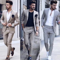 Latest Design Mens Dinner Prom Party Suit Groom Tuxedos Chea...