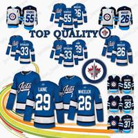 HOT Winnipeg Jets Hockey Jersey 26 Blake Wheeler 29 Patrik Laine 33 Dustin  Byfuglien 37 Connor Hellebuyck 55 Mark Scheifele Jersey Top 9cf315656