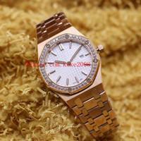 Luxury Top Quality WristWatches Royal Oak 67651or.zz.1261or.03 33mm 18k oro rosa diamante VK quarzo da donna Orologio da donna Orologio da donna