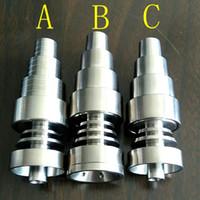 Универсальный 6-в-1 без титановых гвоздей GR2 Гвозди 10мм 14мм 18мм Совместное мужское и женское бездомные гвозди для стеклянных бонгов Водопроводные трубы Dab Rigs