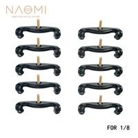 NAOMI 1/8 Violon Épaule Reste Pieds 10PCS Violon Épaule Reste Jambes Pieds Noir Remplacements 1/8 Violon Partie Accessoires