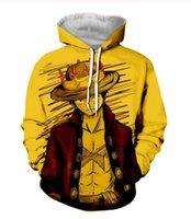 Yeni Sıcak Satış Seti Anime One Piece Kapüşonlular Erkek Kapşonlu Kazaklar Baskılı Erkek Hoody 3D Baskı Kapşonlu Sweatshirt RJ0178
