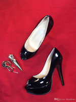 Zapatos de tacón alto para niñas de diseño Zapatos inferiores de lujo de color rojo Cuero real Alto 13 cm Vestido de fiesta sexy para niñas Sandalias Zapatos de boda Tamaño 35-40