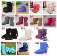 2019 Venda Quente Desconto de Natal Promoção Botas das Mulheres Bailey Bow Boots Top Quality Wgg New 3280 Botas de Neve para Mulheres