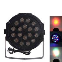 30 W 18 adet RGB LED Par Işık Oto Ses Kontrolü DMX512 Yüksek Parlaklık Mini Sahne Lambası AC 110-240 V Siyah