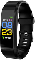 115 Plus-Farben-Schirm-Smar twatch Armband Armband Herzfrequenz Fitness Tracker Schlaf-Monitor-Uhr