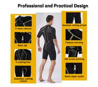 SLINX 1103 мужчины 3 мм согреться водолазный костюм солнцезащитный крем цельный короткий рукав гидрокостюм неопрена акваланг анти УФ зима плавать серфинга гидрокостюм