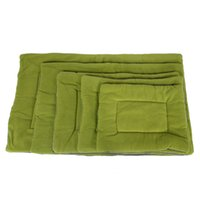 Waschbar weiches bequemes Silk Wadding Bett Pad Matte Kissen für Haustier-Grün Farbe L Größe
