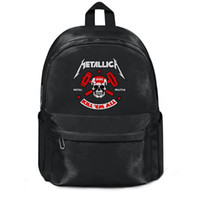 Metallica Nuclear Blast Fashion sports Wool, zaino a spalla, design retrò in edizione limitata con cordoncino regolabile, adatto per sc