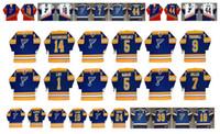 Maglia vintage St. Louis Blues 14 Doug Wickenheiser 5 ALAIN VIGNEAULT 9 TURNBULL 5 ROB RAMAGE 7 Joe Mullen MIKE LIUT GUY LAPOINTE CCM Hockey