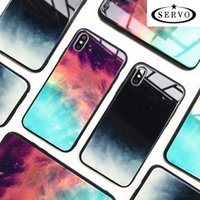 Coque Etui Servo Glass Pour iPhone 6 6S 7 7S Plus Coque iPhone X XS XR X Max 8 Sky Cases
