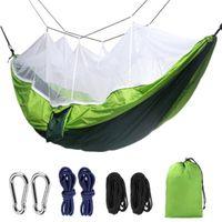 260 * 140 cm mosquiteiro rede 12 cores ao ar livre pano de pára-quedas campo de acampamento tenda jardim de campismo balanço pendurado cama contra mosquitos