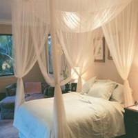 190x210x240cm Avrupa Tarzı 4 Köşe Mesaj Yatak Gölgelik Sivrisinek Net Tam Netting Yatak Ciel De Lit Moustiquaire Yataklar Çocuk Odası Dekorasyon