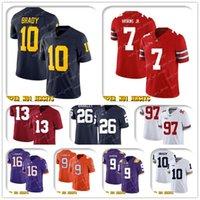 NCAA 10 Tom Brady Dwayne Haskins Jr Ohio State Buckeyes Koleji Futbol Jersey Jerry Jeudy Von Miller Phillip Lindsay John Elway