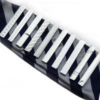 Riemen Nut Diamant Short Tie Clips Business Suits Shirt Krawatte Krawatten Bars Modeschmuck Männer Weihnachtsgeschenk Will und Sandy 070004