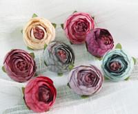Mini kunstmatige thee rose bud small peony camellia flores bloem hoofd voor bruiloft bal decoratie DIY ambachtelijke geschenken voor feestdecoratie GA673