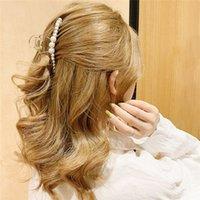 3 Farbe neue Art und Weise Perle Frauen einfach Haarnadel Retro Mädchen-Brötchen-Hersteller Haarspangen Clamp DIY Werkzeug Haar-Accessoires Großhandel EJJ344