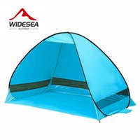 2018 Widesea beach tent 3-4 person 5colors pop up open sunshelter rápido automático 170T poliéster protección UV para acampar pesca