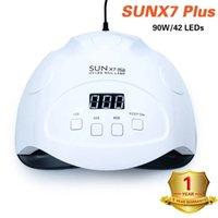 Lámpara 90W UV LED Plus SUNX7 SUN secador del clavo para la manicura Esmalte de uñas de secado de hielo de la lámpara de curado gel con CY200513 sensor automático