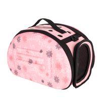 Llevar el bolso comodidad del portador de viaje del perro del animal doméstico bolsa para Animales Pequeños gato cachorro de color rosa talla L