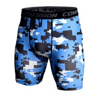 Summer Bermuda Camouflagem Shorts Compression Shorts Hommes À Séchage Rapide Bodybuilding Collants Short De Plage Pantalon Court