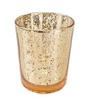 """2.7 """"H Mercury Glass Votive Tealight Candle Holders per regali Matrimoni Parti e decorazioni per la casa Argento Gold Color"""