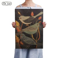 Nightingale Beauty Bird Vintage Poster Retro Decorative Pain...