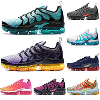 Nike Air Vapormax Tn Plus tns Fuchsia Schwarz Herren Damen Laufschuhe Grid Print Lemon Lime Bumblebee Spiel Royal Trainer Sports Sneakers 36-45