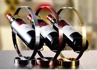 Curva semplice dell'acciaio inossidabile di disegno Table Wine Rack stand Ponte ad arco Shape Bottle Holder vino creativo europeo Staffa