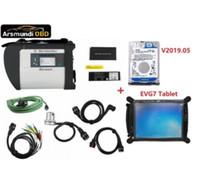 2019 A +++ Qualidade Full Chip V2019.05 software HDD MB ESTRELA C4 MB SD Connect Compact Ferramenta de Diagnóstico 4 + EVG7 Tablet DL46 / HDD500GB / DDR4