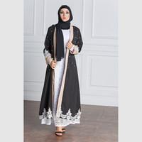 Vêtements Ethniques Douce Dubaï Cardigan Cardigan Cardigan Patchwork Perles d'Abaya Arabe Arabe Turquie Moyen-Orient Moyen-Orient Musulman Femmes Robe longue Mode Grand SI