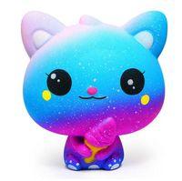 Многоцветный Squishi Антистресс Kawaii Мороженое Котенок Медленный отскок Squishy Моделирование Мороженое Cat Выжимать Симпатичные игрушки для детей