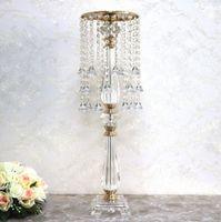 Akrilik Kristal Çiçek Vazolar Düğün Yolu Kurşun Düğün Masa Centrepiece Ev Dekorasyon 70cm / 27.56 ''