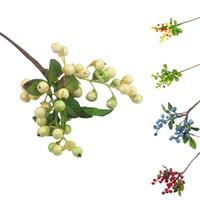 1 فرع الاصطناعي محاكاة فاكهة التوت 5 لون النبات وهمية صغيرة الزفاف الديكور لفندق الإكسسوارات المنزلية جدول حزب