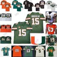 مخصص 2020 Miami الأعاصير كرة القدم جيرسي NCAA كلية مالك روزير ترافيس هوميروس جوناثان جارفين جيرالد ويليس الثالث شون تايلور ريد