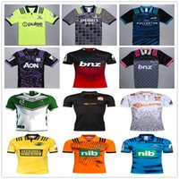 2018 2019 Nova Zelândia Super Rugby Jerseys Highlanders Hurricanes Blues Maori All Stars Crusaders 18 18 Casa Fora Camisas de Futebol