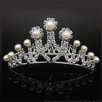 18007-Ucuz Taçlar Popüler Güzel Saç Aksesuarları Tarak Kristaller Yapay elmas Gelin Düğün Tiara 4.53 inç * 1.97 inç Ücretsiz Kargo