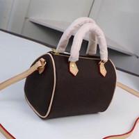 Miglior borsa a tracolla SPEEDY M61252 Mini tracolla in pelle carino borsa borse trasversali 16 centimetri femminile NANO secchio marrone Vecchio fiore mini cuscino cluch BAG