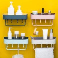 رف الحمام لاصقة Badkamer ريك الاستحمام الزاوية التخزين منشفة رف رف المطبخ ملحقات الحمام تزيين المنزل