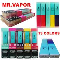 MR VAPOR Disposable Vape Device Kit 280mAh Battery 1.3ml Cartridge Mr.Vapor Disposable Vape Pens 13 Colors Empty E cigrettes