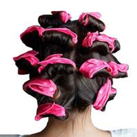 10 adet Sihirli Sünger Yastık Yumuşak Esnek Uyku Saç Rulo Köpük Curlers Silindirler DIY Salon Saç Modelleri Araçları