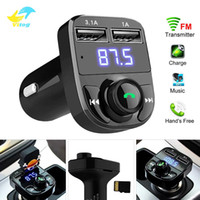 Vitog X8 Voiture Transmetteur FM Aux modulateur Kit Bluetooth Mains Libres Voiture Audio Récepteur MP3 Lecteur 3.1 A Charge Rapide Double USB Chargeur De Voiture