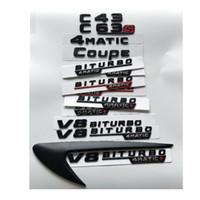 Черные буквы C43 C63 C63s V8 BITURBO 4MATIC + Fender Магистральные TAILGATE эмблема Эмблемы Значки AMG W204 W205 Coupe