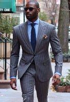 Dark Blue Jacket + smokings marié pantalon + Tie Mens Fashion Tux Smokings Blazer boyfriend Epoux Vêtements pour hommes Discours