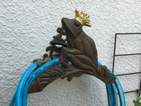 Bahçe Hortumu Askı Kurbağa Prens Eski Ülke Dökme Demir Metal Bahçe Hortum Tutucu Hortum Makarası Standı Ferforje Açık Malzemeleri Bağbozumu