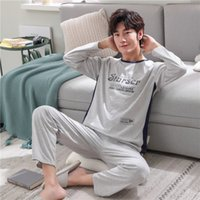 Spring and autumn A326 men long sleeves cotton pajamas